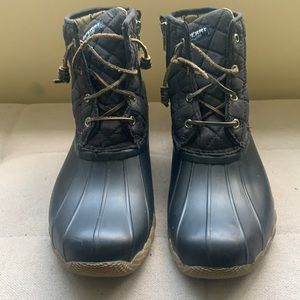 Sperry Women's Saltwater Quilted Duck Boots 9 SB1